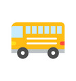 bus simple transportation icon flat design vector image vector image