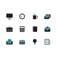 Business duotone icons on white background vector image