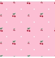 cherry seamless pattern Food background vector image vector image
