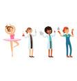 children various professions set ballerina vector image vector image
