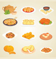chinese traditional food dish delicious cuisine vector image vector image