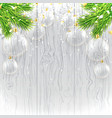 Christmas banner with glass toys vector image vector image