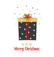christmas card with cute gift isolated on white vector image vector image