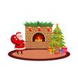 christmas holiday scene vector image vector image