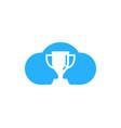 cloud trophy logo icon design vector image