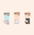 coffee time concept with elements vector image vector image