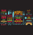 color inscriptions in retro style on theme vector image vector image