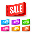 color sale tags vector image vector image