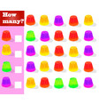 counting game for preschool children educational vector image