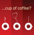 cup of coffee color vector image