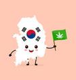 cute funny smiling happy south korea vector image vector image