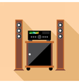 Digital hi-fi audio system with monitors vector image