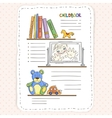 doodle page for kids and children vector image