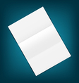 Empty paper sheet with shadows on blue background vector image vector image