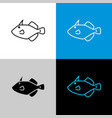 filefish icon line style symbol of filefish vector image vector image