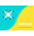 Flat Drone vector image vector image