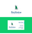 flat dubai hotel logo and visiting card template vector image