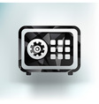 Flat icon safe lock finance bank security vector image vector image
