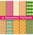 Geometric patterns tiling Set of seamless vector image vector image