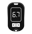 glucometer icon simple style vector image vector image