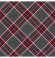 Gray red diagonal check plaid seamless pattern vector image vector image