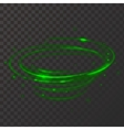 Green neon plasma circle Shiny frame vector image
