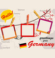 greeting card with germany vector image