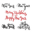 happy new year hand drawn creative calligraphy vector image vector image