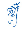 healthy tooth vector image