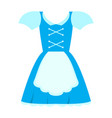 isolated oktoberfest traditional clothes for women vector image