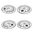 isometric sundials set vector image vector image