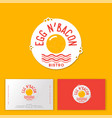 logo eggs bacon cafe restaurant fork spoon vector image