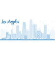 Los Angeles Skyline with Blue Buildings vector image vector image