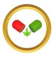 Marijuana capsule pill icon vector image vector image