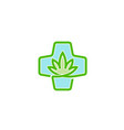 medical marijuana clinic design logo vector image
