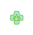 medical marijuana clinic design logo vector image vector image