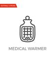 medical warmer icon vector image vector image