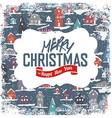 Merry Christmas VIntage Tag Design On Planks