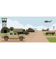 Military Base Camp Side View vector image vector image