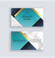 modern company business card in marble business vector image vector image