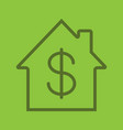 property purchase linear icon vector image vector image