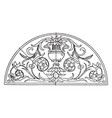 renaissance lunette panel is an intarsia design vector image vector image