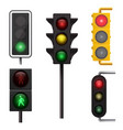 road signal for directing street car traffic vector image vector image