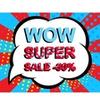 Sale poster with WOW SUPER SALE MINUS 30 PERCENT