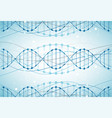 science template wallpaper or banner with a dna vector image vector image