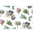 seamless pattern succulent cactus plants vector image