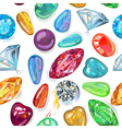 seamless texture colored gems vector image