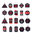 set black friday tags discount badges collection vector image