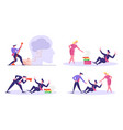 set business people bullying and pressure vector image vector image