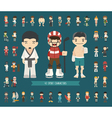 Set of 43 Sport characters vector image vector image